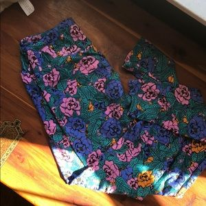 LuLaRoe floral tights